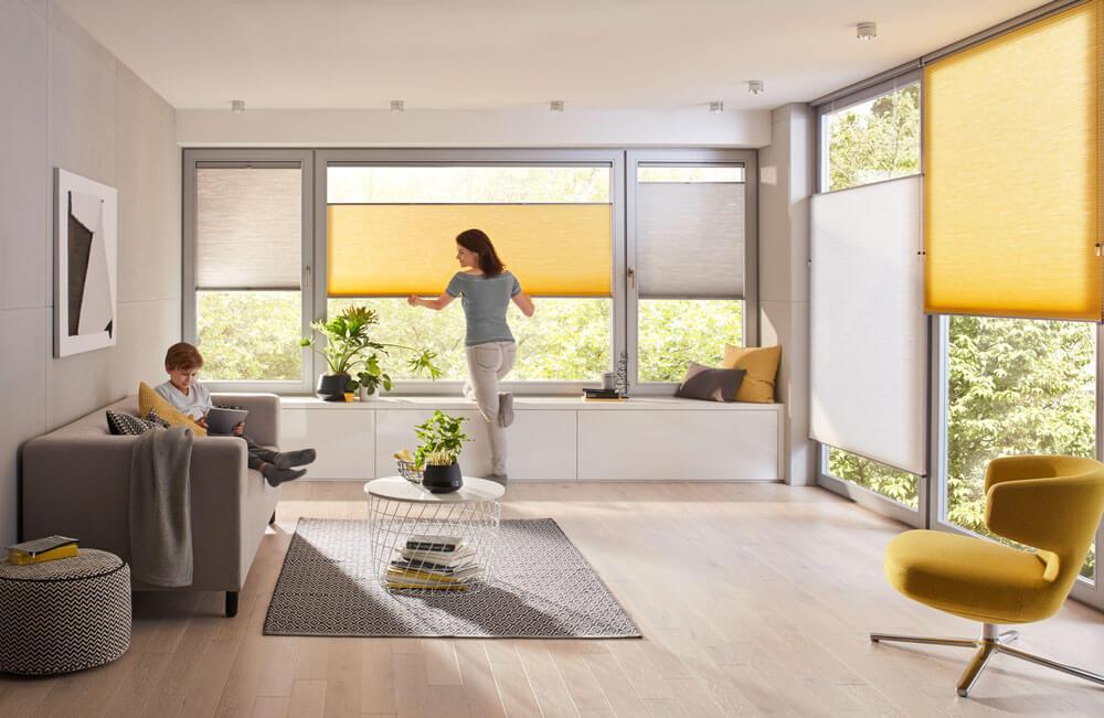 optimaler blendschutz mit dem duette wabenplissee in ihrer lieblingsfarbe deco home. Black Bedroom Furniture Sets. Home Design Ideas