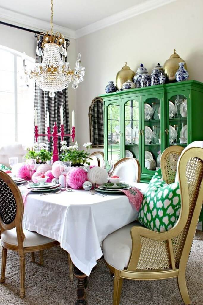 tischdeko_frühling_deco-home_stunning-spring-dining-room-table-centerpiece-ideas-35